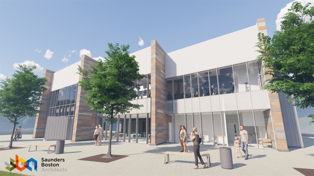 Work underway at state-of-the-art leisure centre designed by Saunders Boston Architects