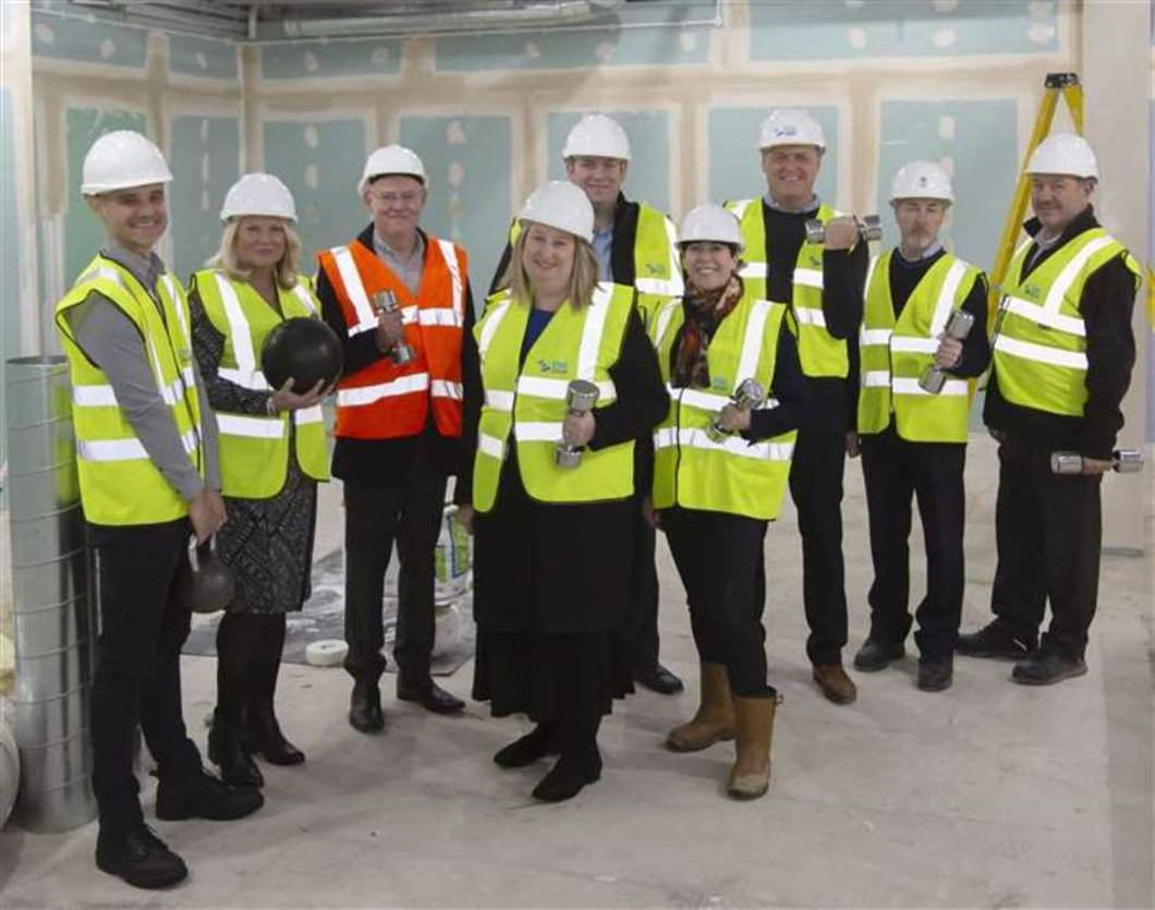 Work begins on the latest refurbishment of Newmarket Leisure Centre