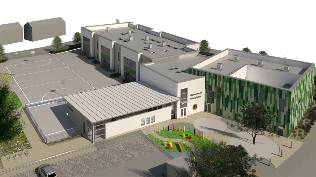 Building work begins on primary school designed by Saunders Boston Architects